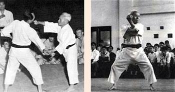 Sensei Gichin Funakoshi performed karate - karateschool ki club.cool voor traditioneel Shotokan karate-do te Amsterdam en Monnickendam
